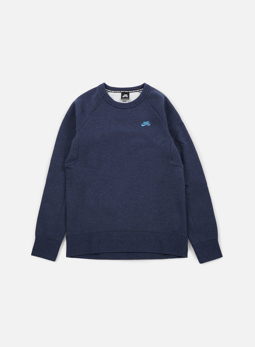 Nike SB - Icon Crewneck, Obsidian Heather/Light Photo Blue