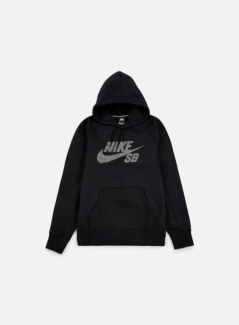 felpe nike sb icon dots hoodie black white