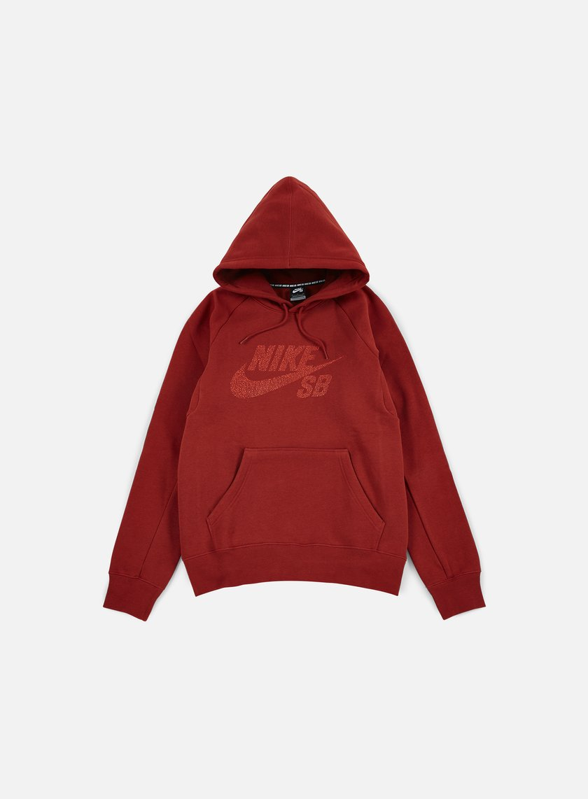 Nike SB - Icon Dots Hoodie, Dark Cayenne/Light Crimson