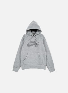Nike SB - Icon Dots Hoodie, Dark Grey Heather/Black