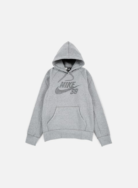 felpe nike sb icon dots hoodie dark grey heather black
