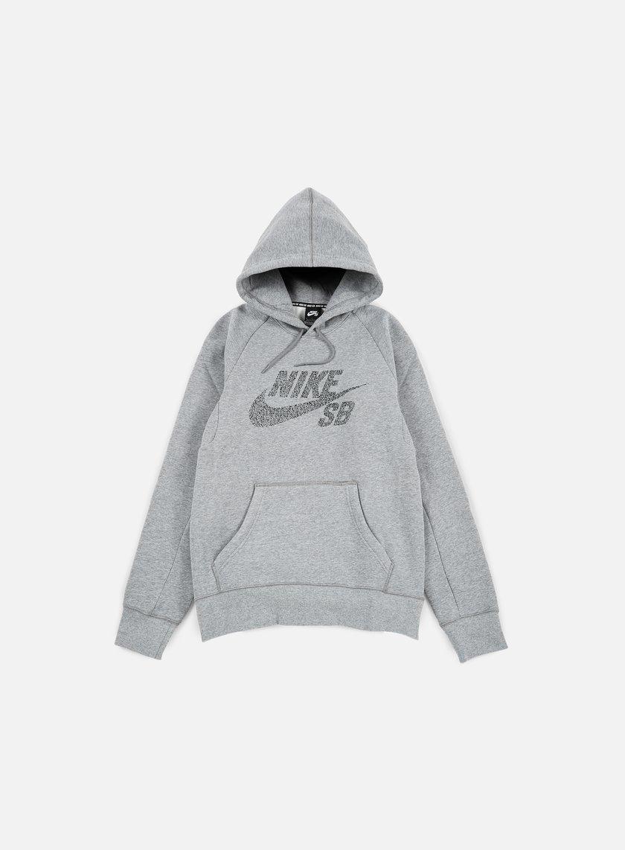 Nike SB - Icon Dots Hoodie, Dark Grey Heather/Black