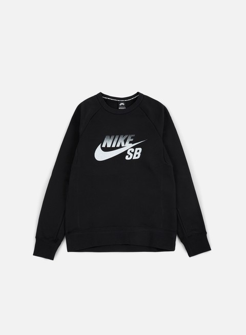 felpe nike sb icon fade crewneck black white
