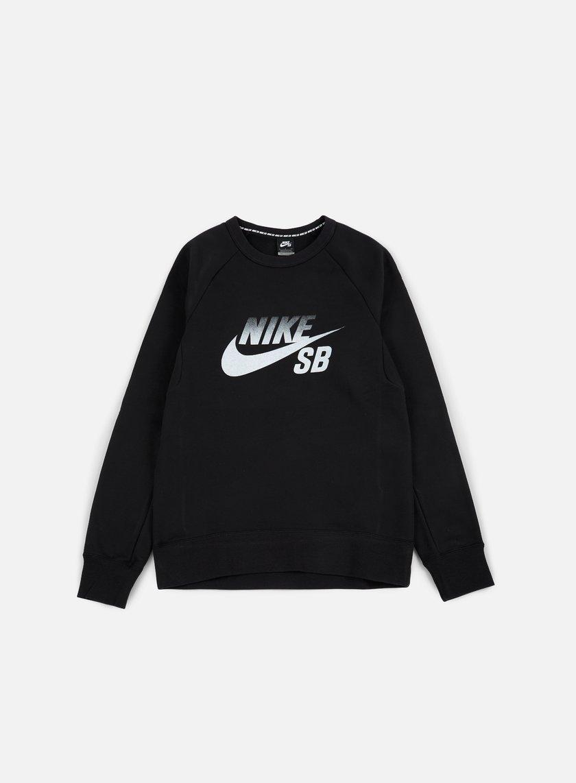 Nike SB - Icon Fade Crewneck, Black/White