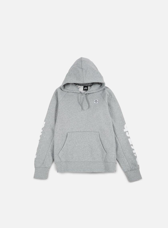 Nike SB - Icon Geo Hoodie, Dark Grey Heather/White