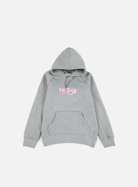 felpe nike sb icon gfx hoodie dark grey heather prism pink