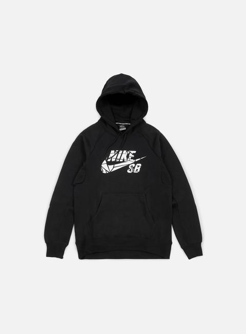 felpe nike sb icon griptape hoodie black white