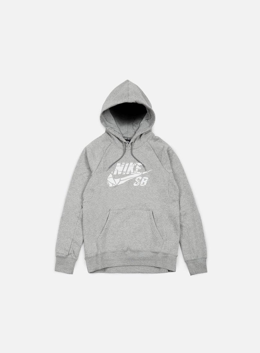 Nike SB - Icon Griptape Hoodie, Dark Grey Heather/White
