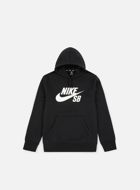 felpe nike sb icon hoodie 2 black white