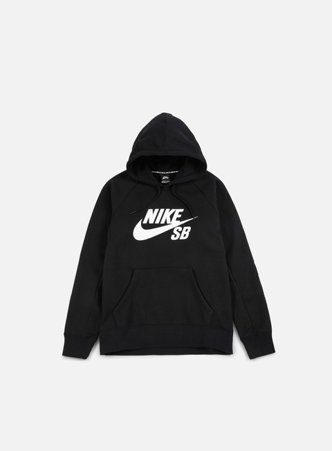 felpe nike sb icon hoodie black white