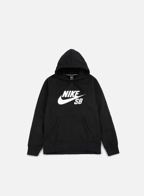 felpe nike sb icon hoodie black white