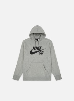 Nike SB - Icon Hoodie, Dark Grey Heather/Black