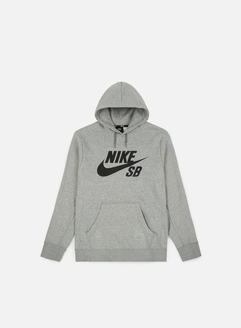 felpe nike sb icon hoodie dark grey heather black