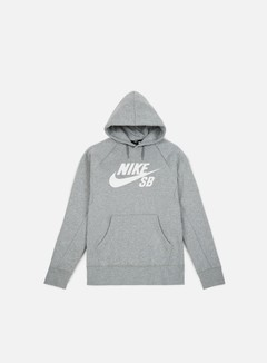 Nike SB - Icon Hoodie, Dark Grey Heather/White