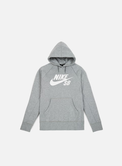 felpe nike sb icon hoodie dark grey heather white