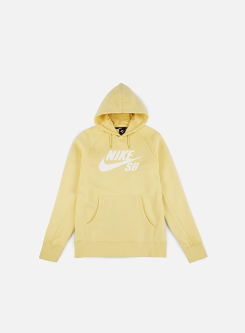 felpe nike sb icon hoodie lemon wash white