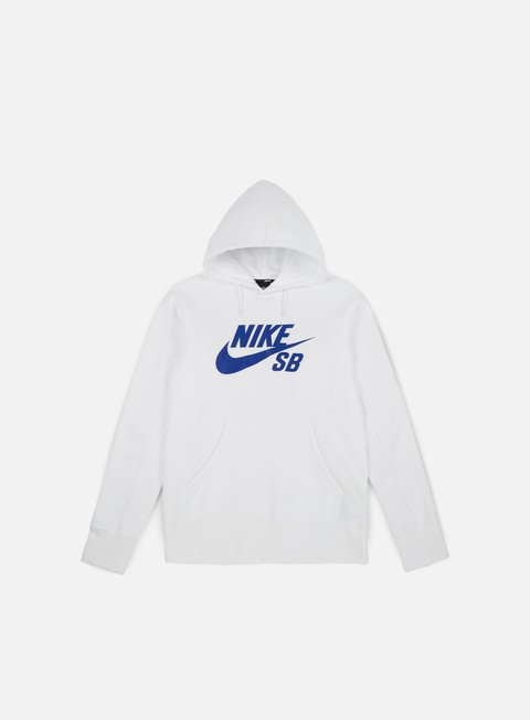 felpe nike sb icon hoodie white hyper royal