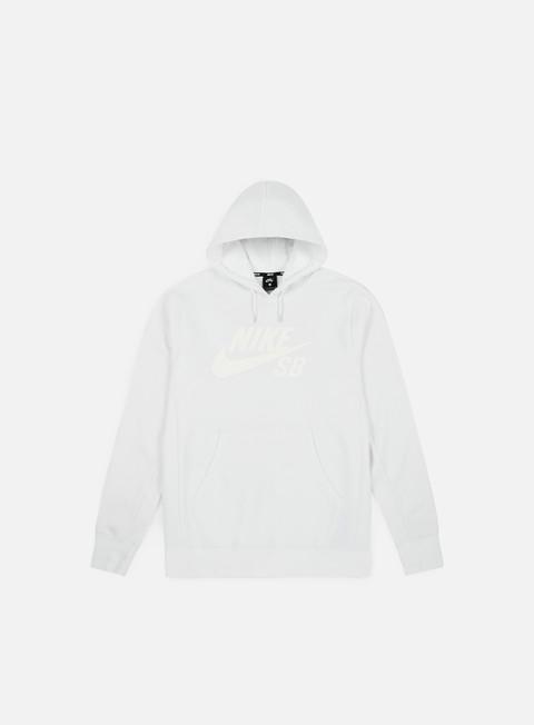 felpe nike sb icon hoodie white white