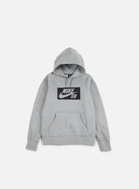 felpe nike sb icon spots hoodie dark grey heather