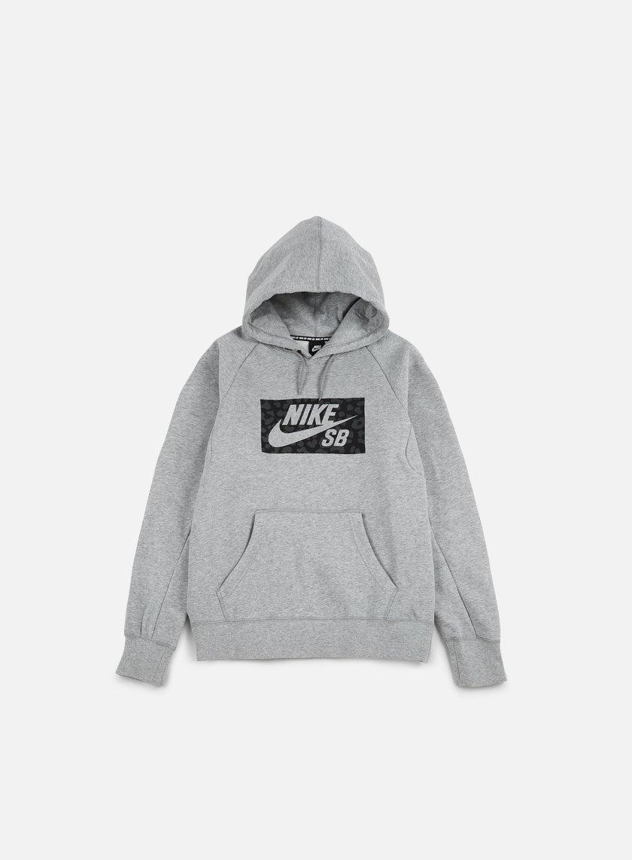 Nike SB - Icon Spots Hoodie, Dark Grey Heather