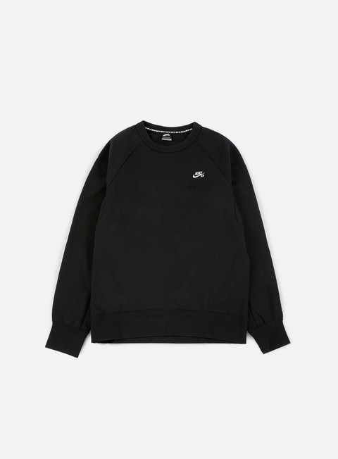 felpe nike sb sb icon crewneck black white