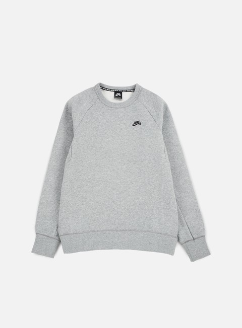 felpe nike sb sb icon crewneck dark grey heather