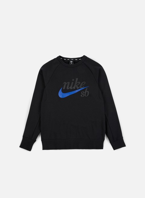 felpe nike sb top icon gfx heritage crewneck black hyper royal