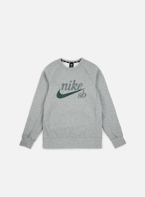 felpe nike sb top icon gfx heritage crewneck dark grey heather midnight green
