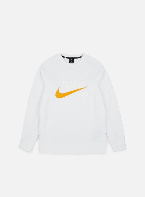 felpe nike sb top icon gfx heritage crewneck white yellow ochre