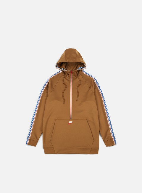 felpe nike taped half zip hoodie ale brown sail