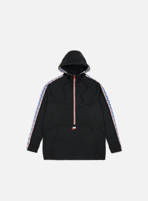 felpe nike taped half zip hoodie black sail