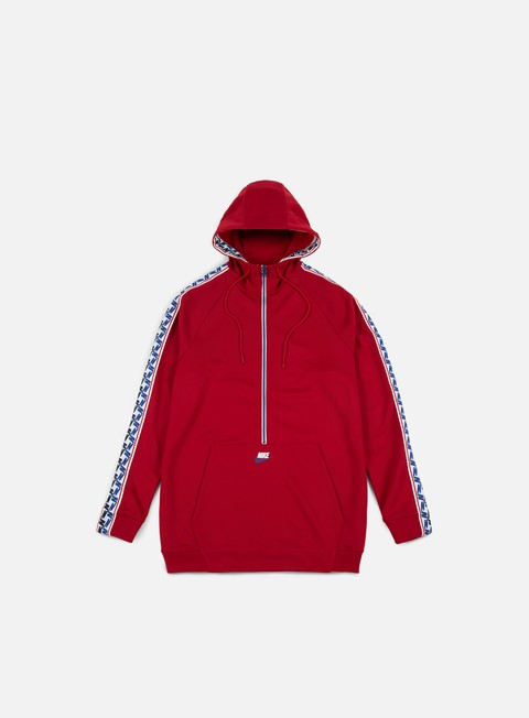 felpe nike taped half zip hoodie gym red sail