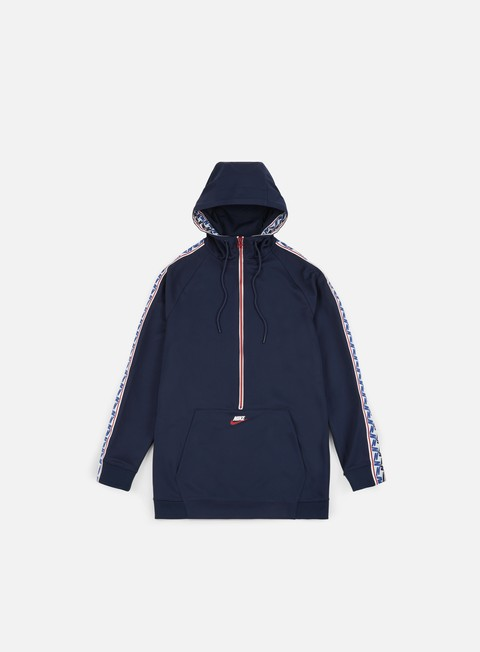 felpe nike taped half zip hoodie obsidian gym red sail