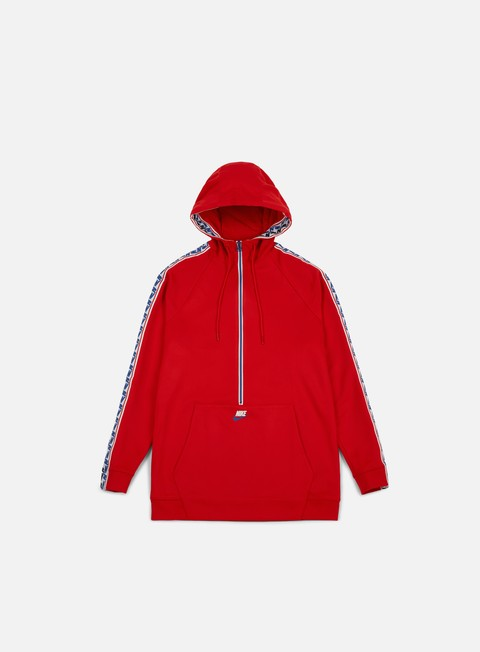 felpe nike taped half zip hoodie university red sail