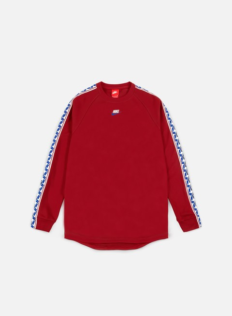 felpe nike taped ls crewneck gym red sail