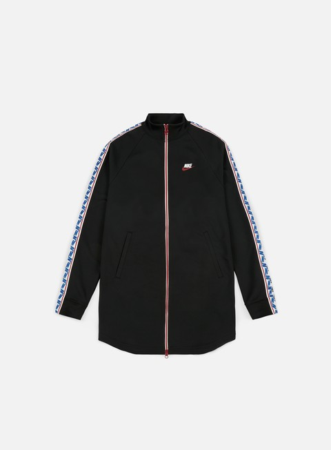 felpe nike taped track jacket black sail