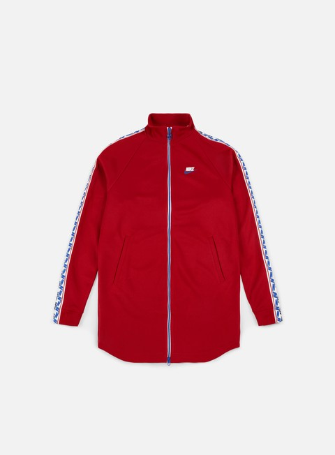 felpe nike taped track jacket gym red white