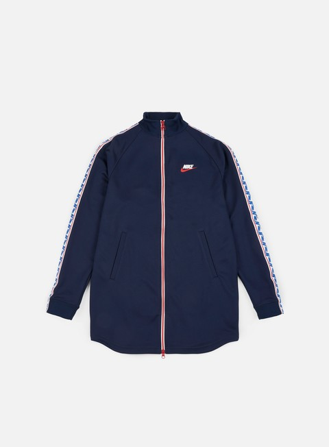felpe nike taped track jacket obsidian sail