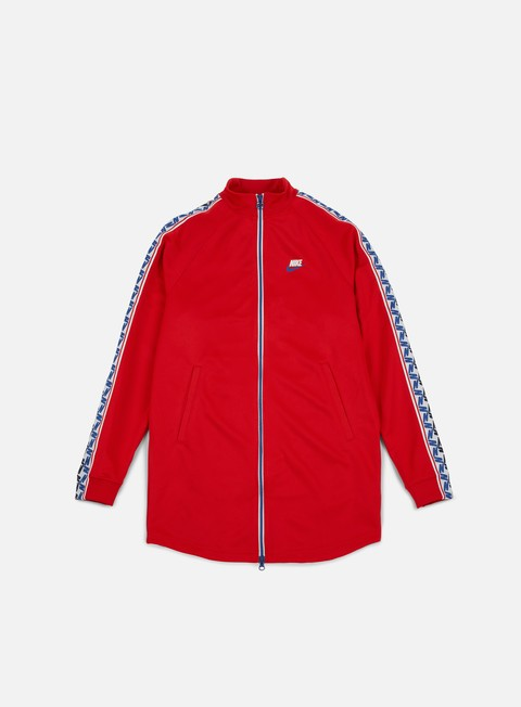felpe nike taped track jacket university red sail