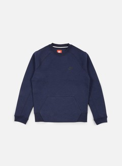 Nike - Tech Fleece Crewneck, Obsidian Heather/Black