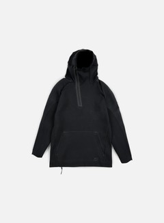 Nike - Tech Fleece Half Zip Hoodie, Black/Black 1