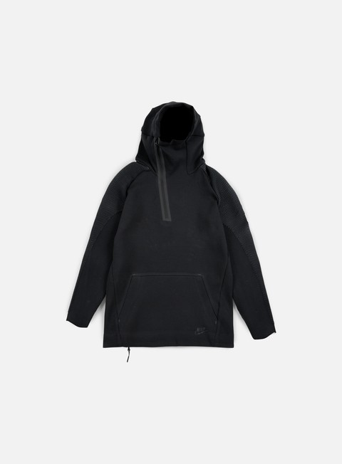 felpe nike tech fleece half zip hoodie black black
