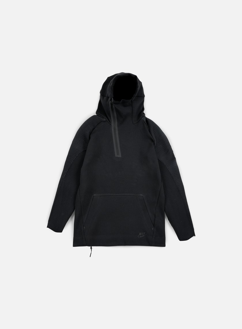 Nike - Tech Fleece Half Zip Hoodie, Black/Black