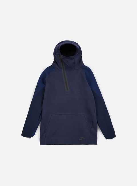 felpe nike tech fleece half zip hoodie obsidian black