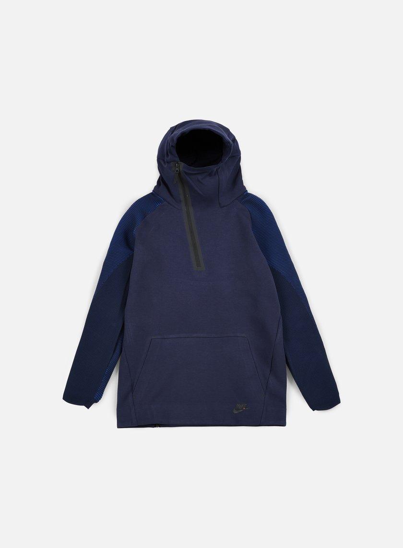 Nike - Tech Fleece Half Zip Hoodie, Obsidian/Black