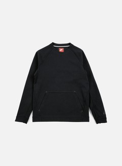Nike - Tech Fleece LS Crewneck, Black/Black