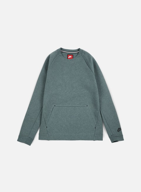 felpe nike tech fleece ls crewneck hasta heather black