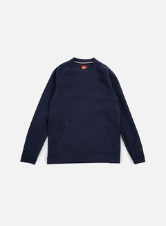 Nike - Tech Fleece LS Crewneck, Obsdian Heather/Black 1