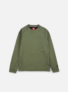 Nike - Tech Fleece LS Crewneck, Palm Green Heather/Black