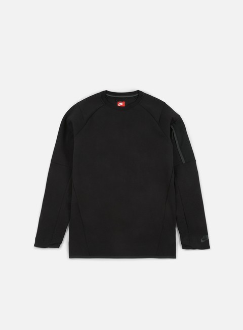 felpe nike tech fleece seasonal crewneck black black